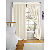 Hamilton McBride Thermal Backed Pencil Pleat Curtains - Natural