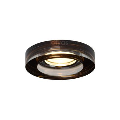Crystal Downlight Deep Round Rim Only Bronze