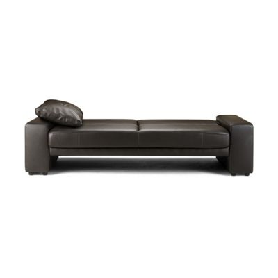 Faux Leather Sofa Bed - Brown