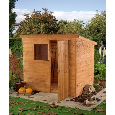 6 x 4 sutton tongue groove pent shed garden wooden shed 6ft x 4ft