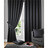 Alan Symonds Madison Pencil Pleat Curtains - Black