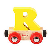 Bigjigs Rail Rail Name Letter R (Yellow)
