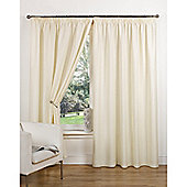 Hamilton McBride Canvas Unlined Pencil Pleat Curtains - Natural