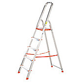 TB Davies Light Duty Aluminium 5 Tread Platform Step Ladder