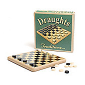 Prof Warbles Retro Wooden Draughts