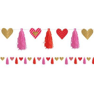 Valentine's Heart Tassel Garland 4.4m