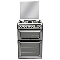 Hotpoint Ultima Electric Cooker with Electric Grill and Gas Hob, HUD61G S - Graphite