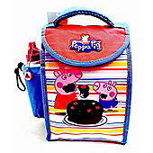 Peppa Pig 'Cake' School Lunch Bag with Bottle