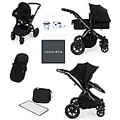 Ickle bubba Stomp V2 AIO/Buggy Lights/Mosquito Net Travel System - Black (Black Chassis)