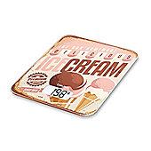 Beurer KS19 Kitchen Scales - Icecream