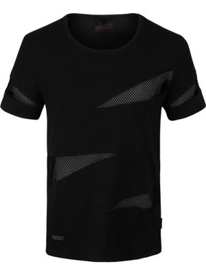 Queen of Darkness With Net Inserts Men's T-shirt, Black.