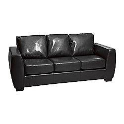 Sofa Collection Loreto 3 Seat Sofabed Black