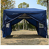 Outsunny 3m x 3m Pop Up Gazebo Water Resistant Blue