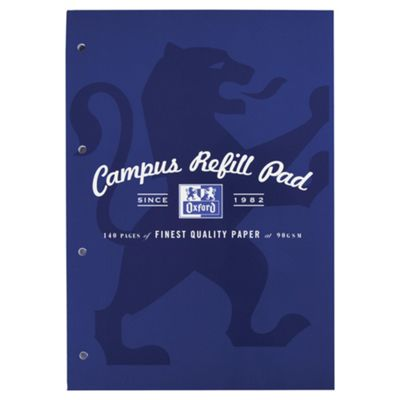 Oxford Campus 140pg refill navy 5 pack