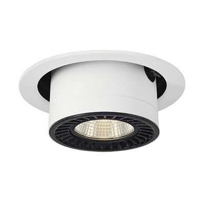Supros Move Downlight Round White LED Reflector Surface Mounted