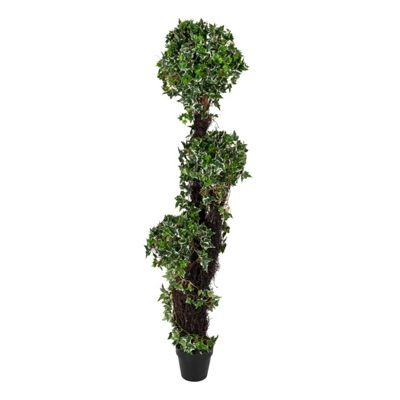 Homescapes Variegated Green Ivy Tree Artificial Plant with Pot, 180 cm