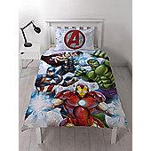 Marvel Avengers Strike Single Duvet Cover Set