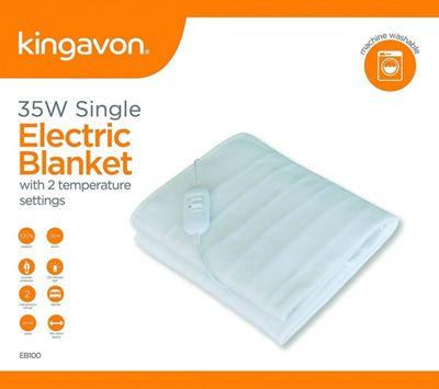 Kingavon Heated Electric Under Blanket Fleece - Single