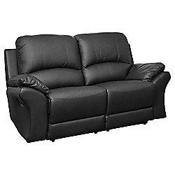 Sofa Collection Reggio Reclining Sofa - 2 Seat - Black