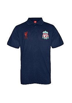 Liverpool FC Mens Polo Shirt - Blue