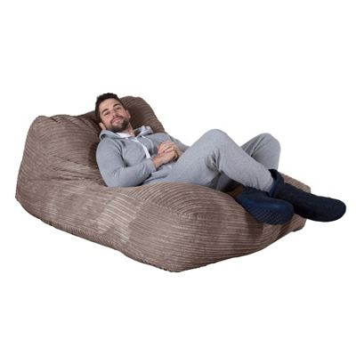 Lounge Pug® Double Day Bed Bean Bag - Cord Mink