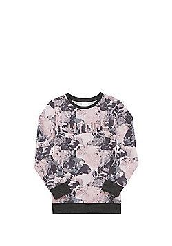 F&F Two-Way Sequin Slogan Sweatshirt - Pink & Grey
