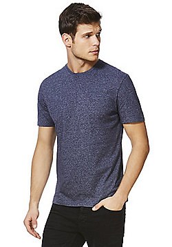 F&F Crew Neck T-shirt With As New Technology - Navy