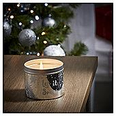 Tesco Christmas Silver Birch Tin Candle