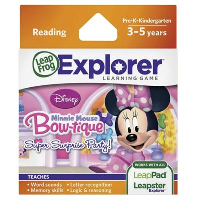 LeapFrog Explorer Learning Game: Disney Minnie Mouse's Bow-tique Super Surprise Party