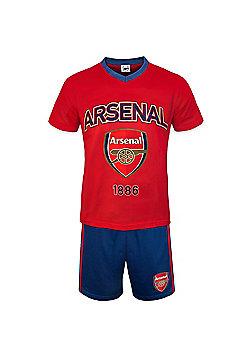 Arsenal FC Mens Short Pyjamas - Red