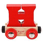 Bigjigs Rail Rail Name Letter H (Red)
