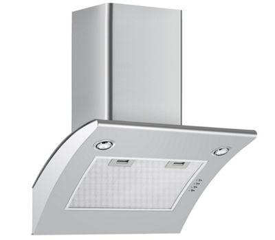 Cookology ARCH600SS 60cm Extractor Fan | Arched Stainless Steel Chimney Cooker Hood