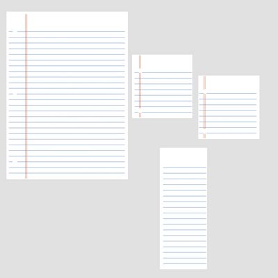 Lined Notebook Dry Erase Wall Stickers