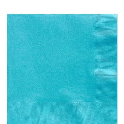 Turquoise Luncheon Napkins - 2ply Paper - 20 Pack