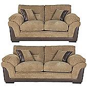 Kendal 3 Seater + 2.5 Seater Jumbo Cord Sofa Set, Taupe