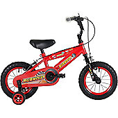 "Bumper Burnout 12"" Pavement Bike Red/Blk"