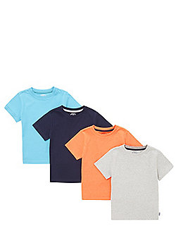 F&F 4 Pack of T-Shirts - Multi