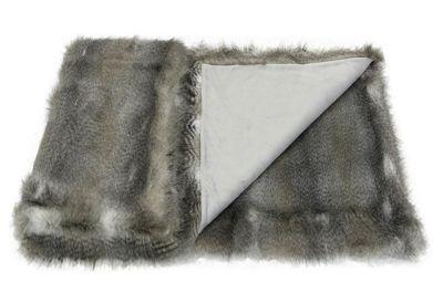 Mink & Grey Artic Wolf Faux Fur Throw