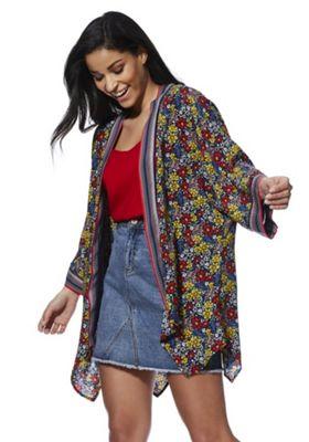 F&F Floral Print Kimono Multi 6