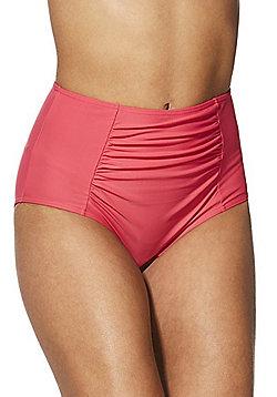 F&F Shaping Swimwear High Waist Bikini Briefs - Pink