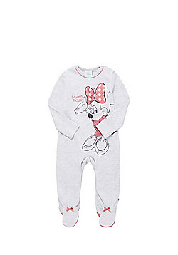 Disney Minnie Mouse Sleepsuit - Marl grey