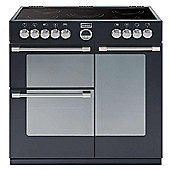 Stoves STERLING 900E BLACK 900mm Electric Range Cooker Ceramic Hob Black