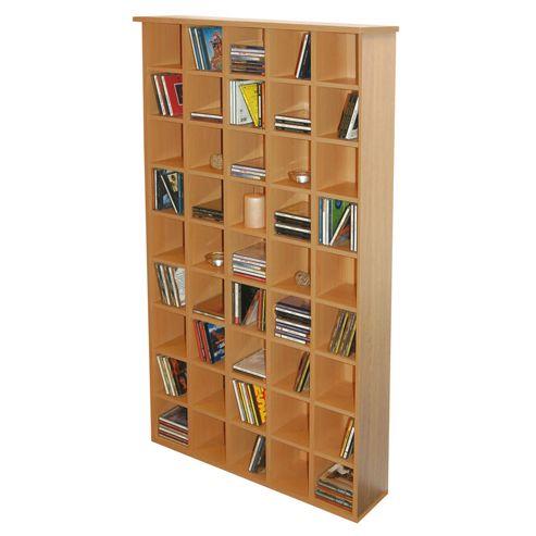 Techstyle CD Storage Shelves - Oak