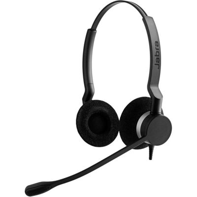 Jabra BIZ Wired Stereo Headset - Over-the-head - Supra-aural
