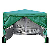 3x3m Pop-up Gazebo 2 Wind bars waterproof coating layer Marquee Canopy With Sides (green)