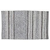 Grey Marl Stripe Bath Mat