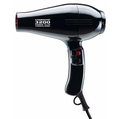 Gamma Piu 3200 Tourmaline Power Plus Hair Dryer Black