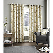 Fusion Hemsworth Duck Egg Curtains - Orange