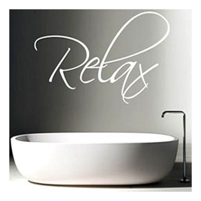 Relax Wall Sticker, White