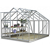Simplicity Clearance LE 8x10 Aluminium Greenhouse Starter Package With Toughened Glass